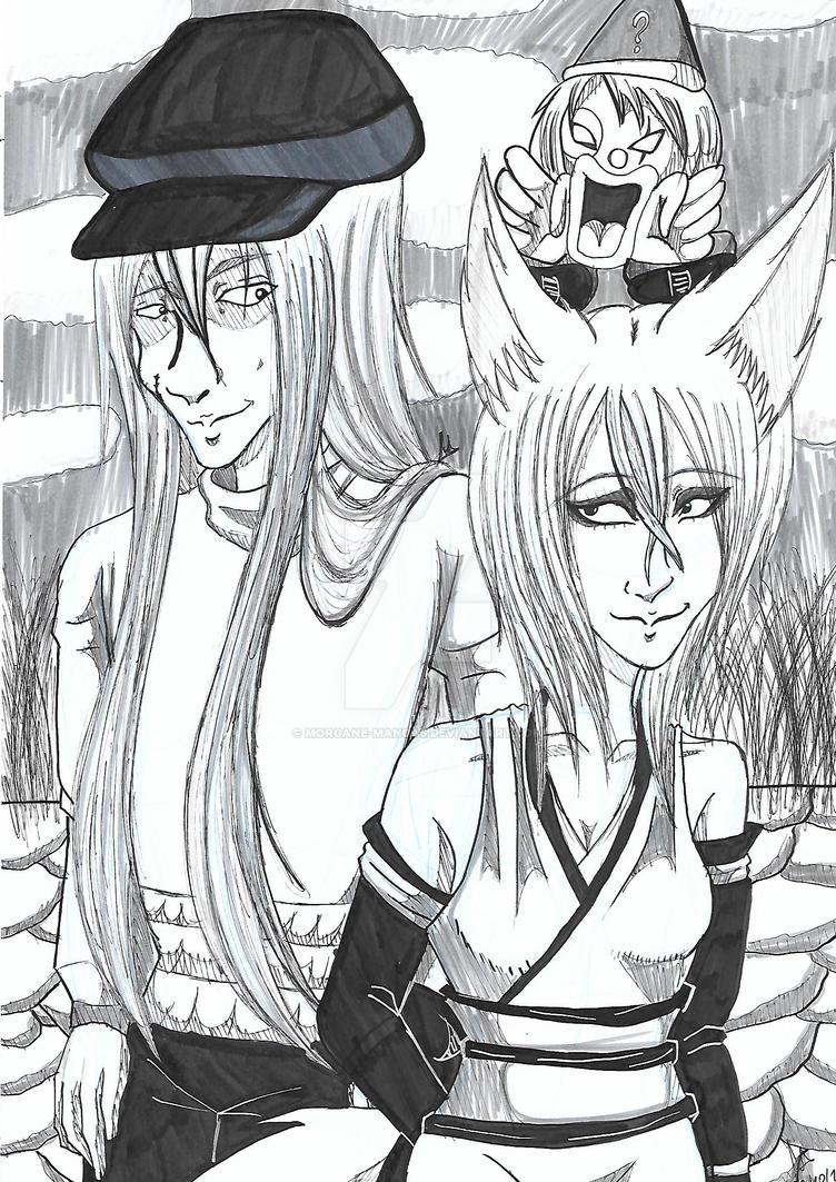 Kaito HxH and Mitsu OC By Morgane Manga by Morgane-Mangas