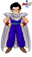 Krillin with Piccolo's outfit