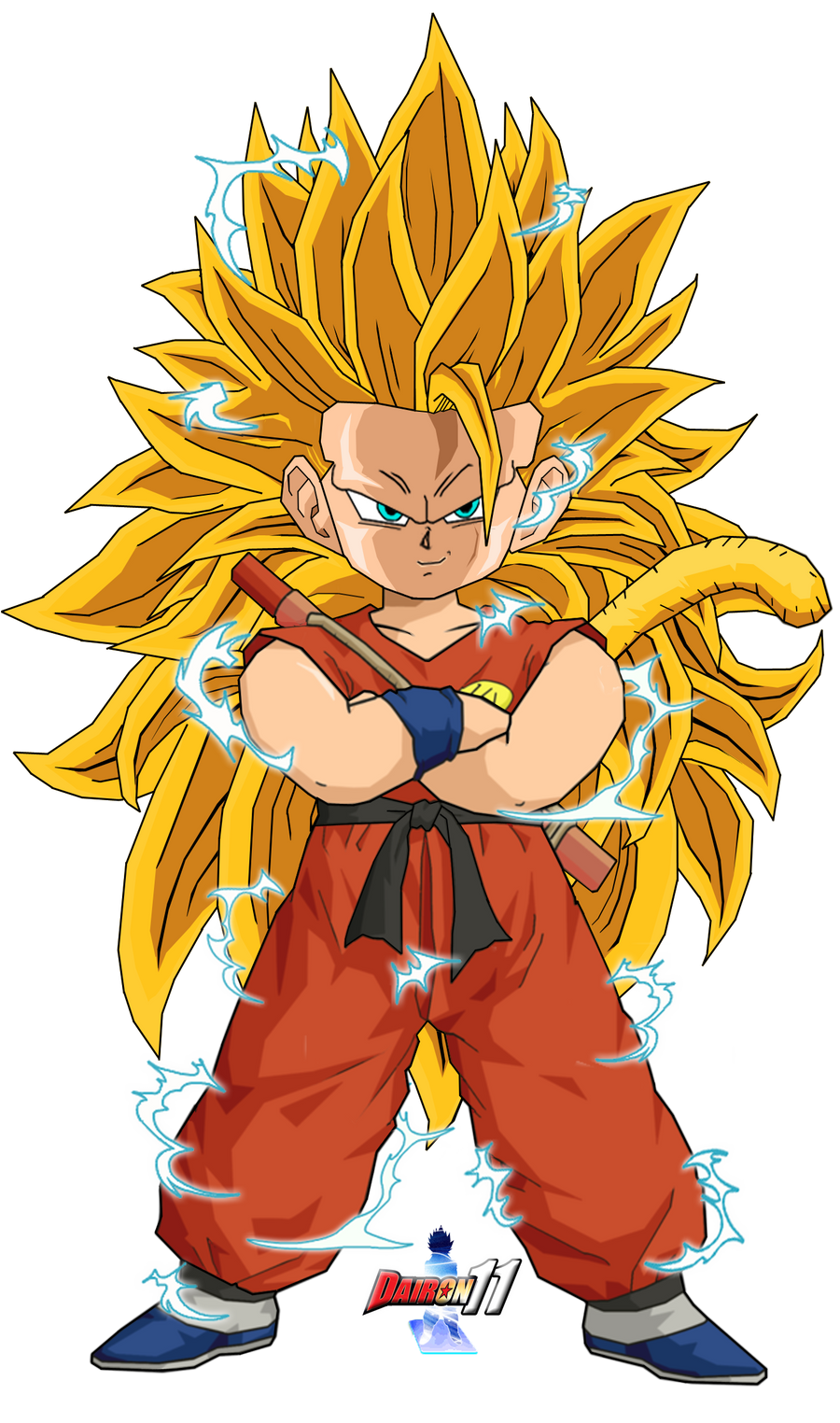 The gallery for --> Kid Goku Super Saiyan 5