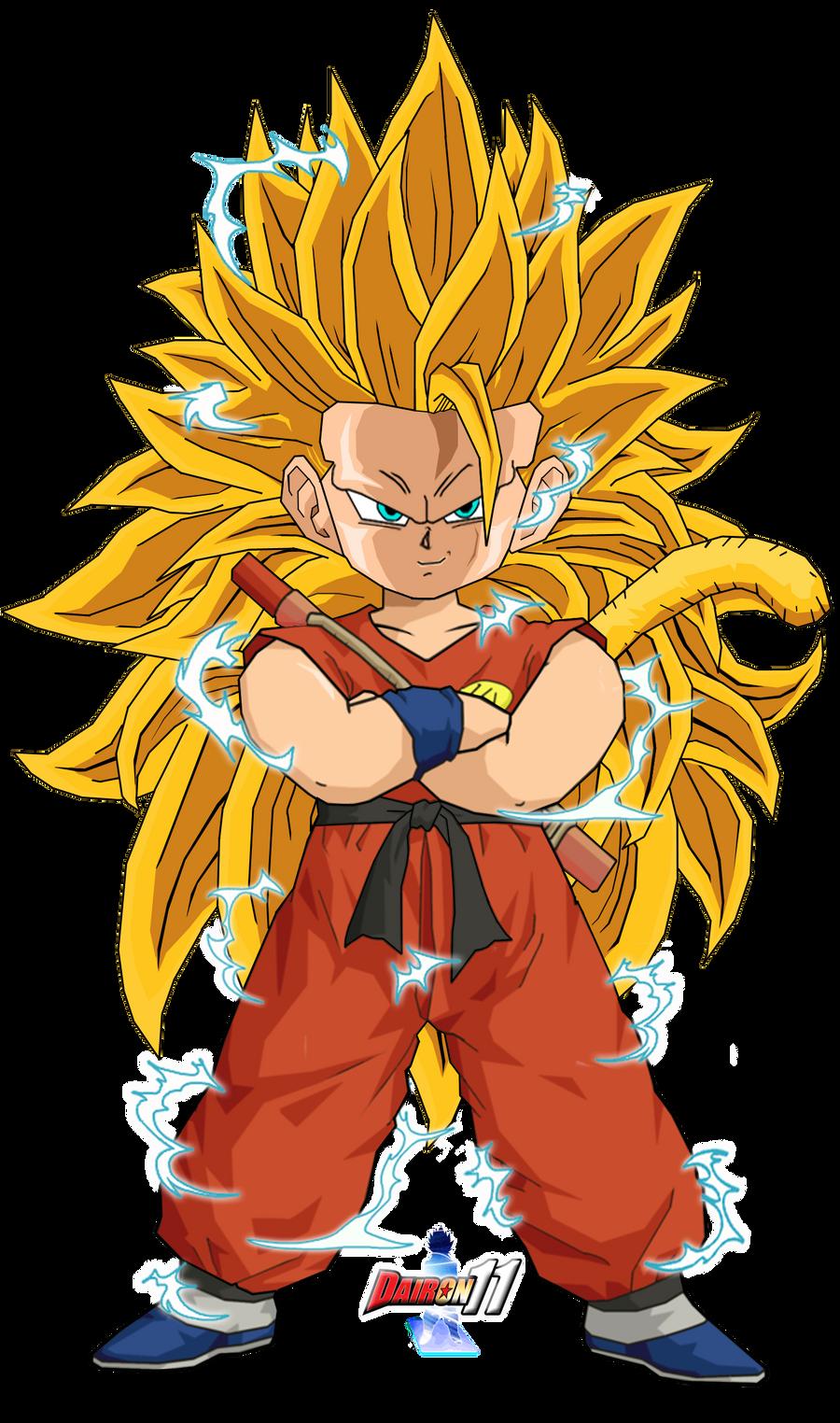 The gallery for --> Kid Goku Super Saiyan 5