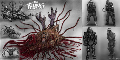 THE THING. Concept Art by ArteagaXXI