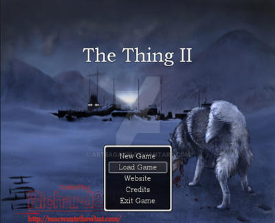 The Thing II rpg game screen by ArteagaXXI