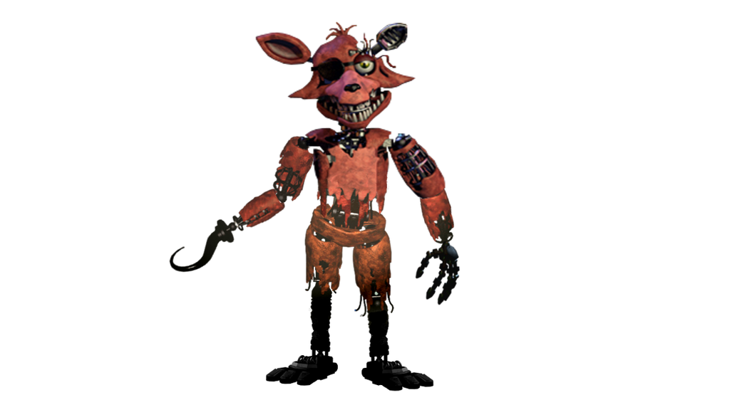 fnaf 2 withered foxy full body