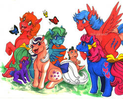 Rescue at Midnight Castle ponies by Aspendragon