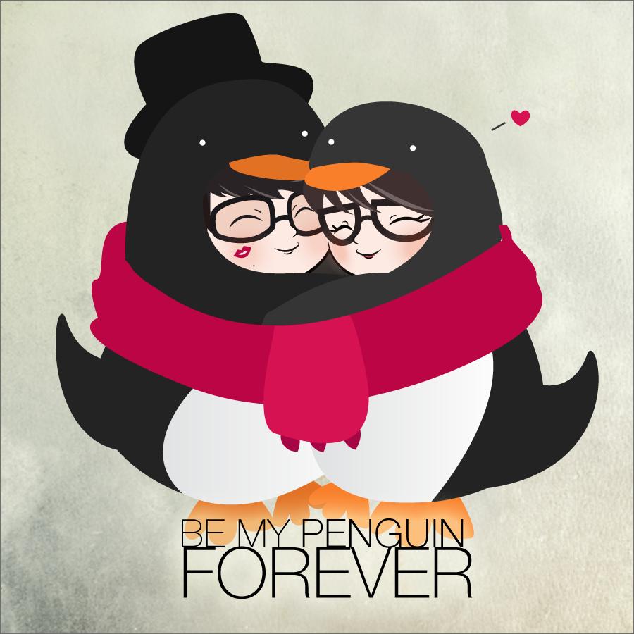 Penguins In Love By Aliize