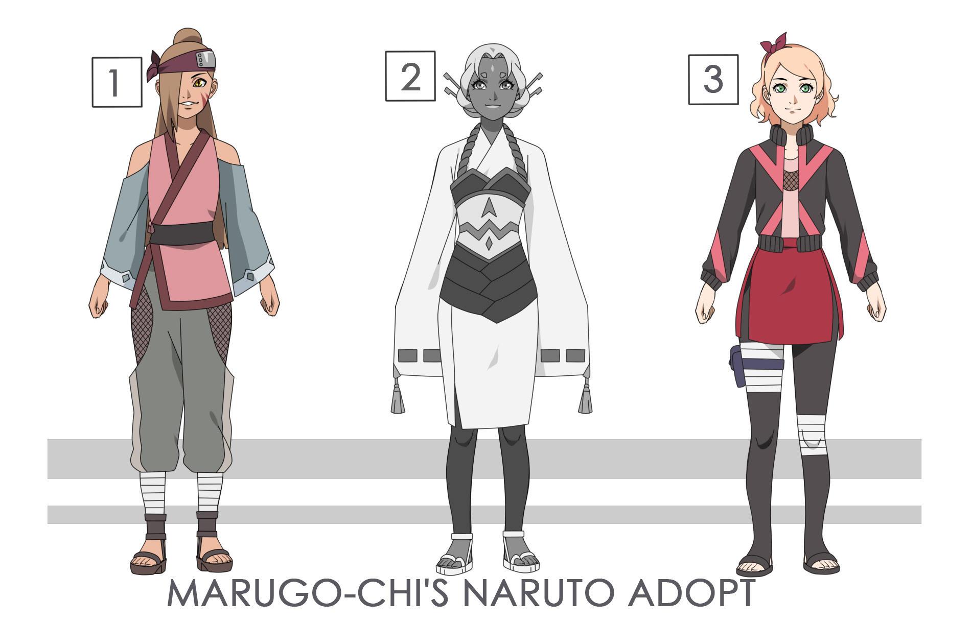 MARUGO-CHI'S Naruto Adoptable Set Price - [OPEN] by marugo-chi