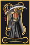 Steampunk tarot of Death