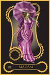 Steampunk tarot of Empress by flamarahalvorsen