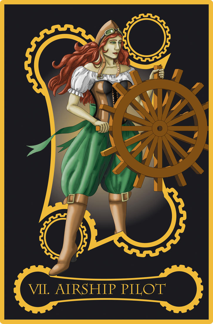 Steampunk tarot of chariot by flamarahalvorsen