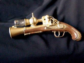 steampunk raygun by flamarahalvorsen
