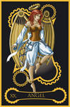 Steampunk tarot of the Angel