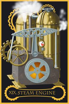 Steampunk tarot of the Sun