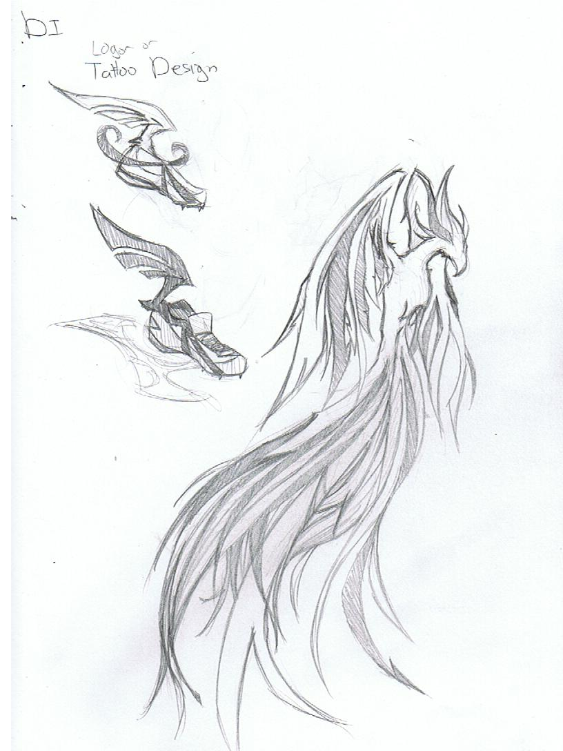 DI Phoenix Tattoo Design by