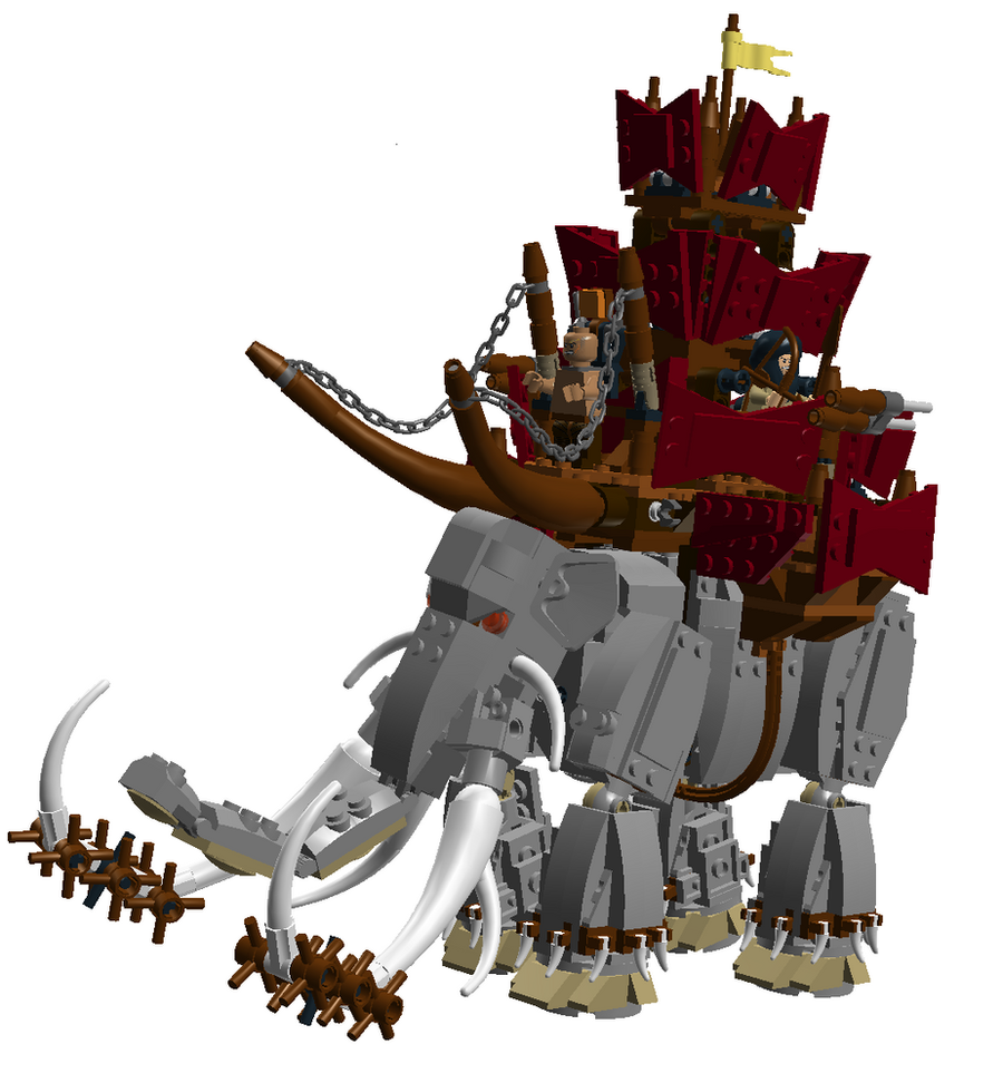 LEGO Lord of the Rings Mumakil by Bugbot64 on DeviantArt
