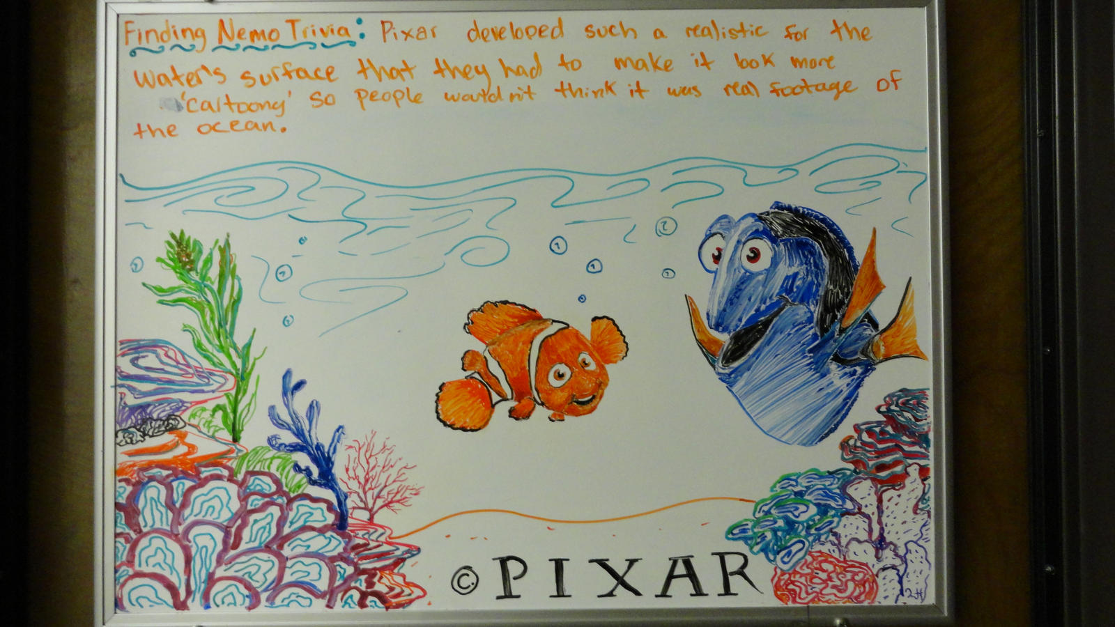 Finding nemo whiteboard drawing by manukahoney7 on for Cute whiteboard drawings