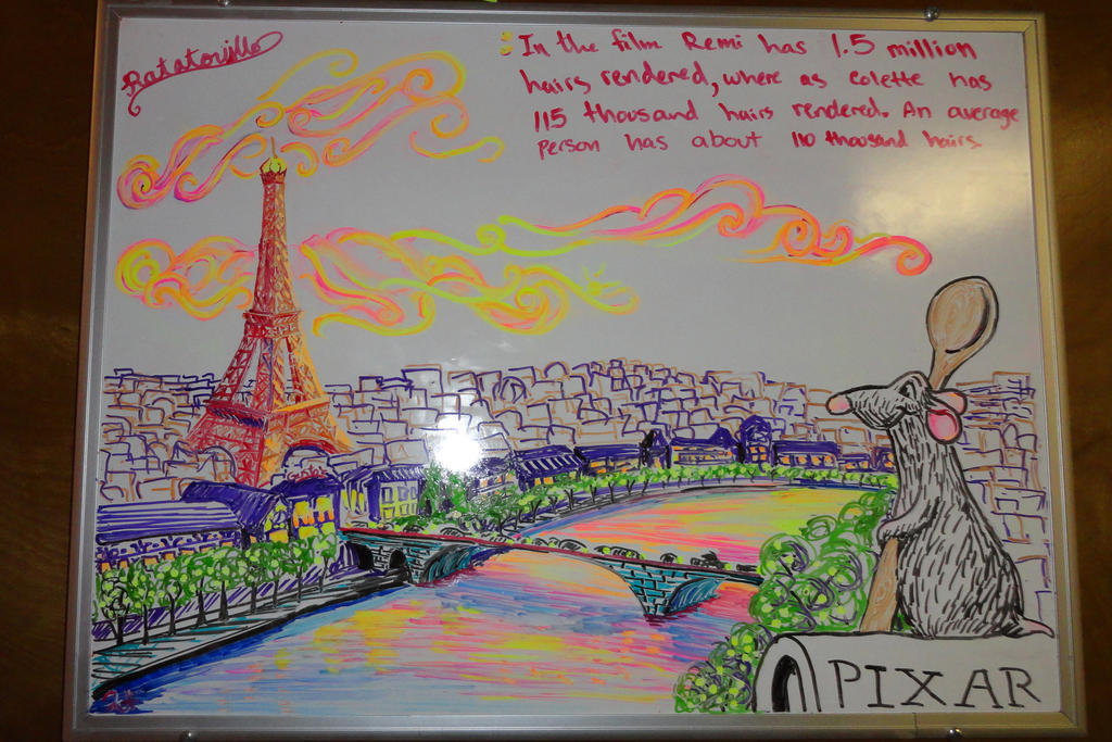 Ratatouille whiteboard drawing by manukahoney7 on deviantart for Stuff to draw on a whiteboard