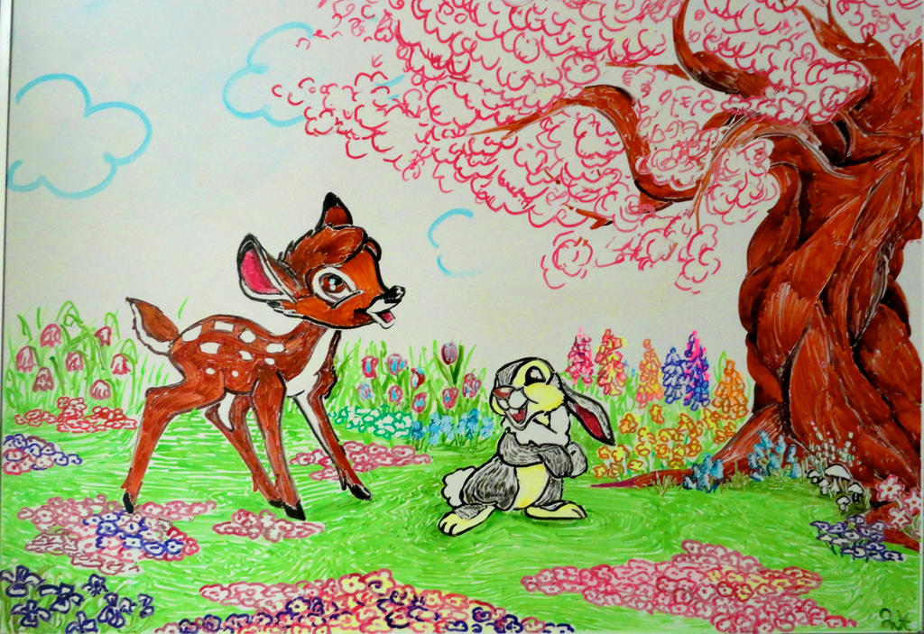Cute bambi drawings images for Cute whiteboard drawings