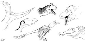Some new dino doodles