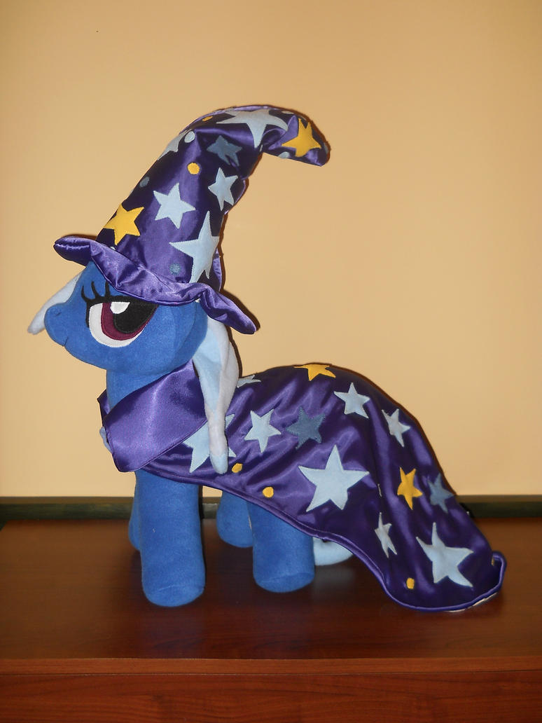 Great and Powerful Trixie pony custom plush by MLPT-fan
