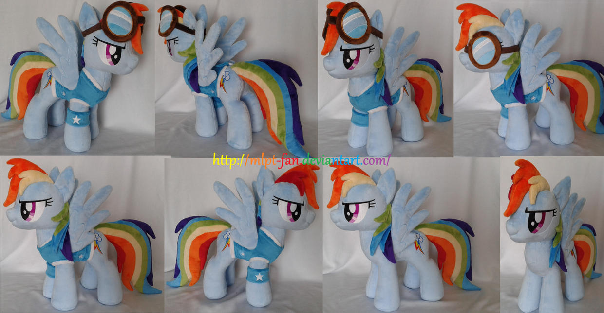Rainbow Dash in winter wrap ut outfit and googles by MLPT-fan
