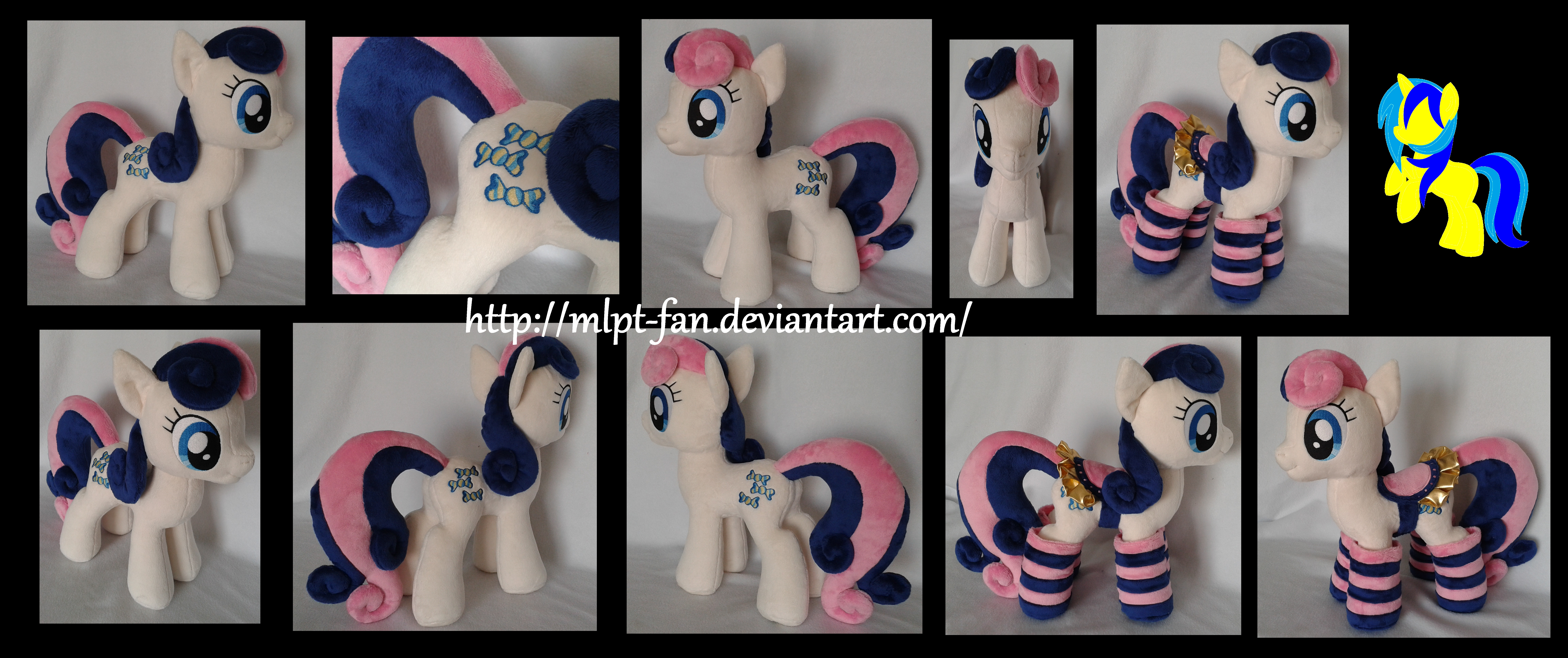 Bon Bon with socks and saddle by MLPT-fan