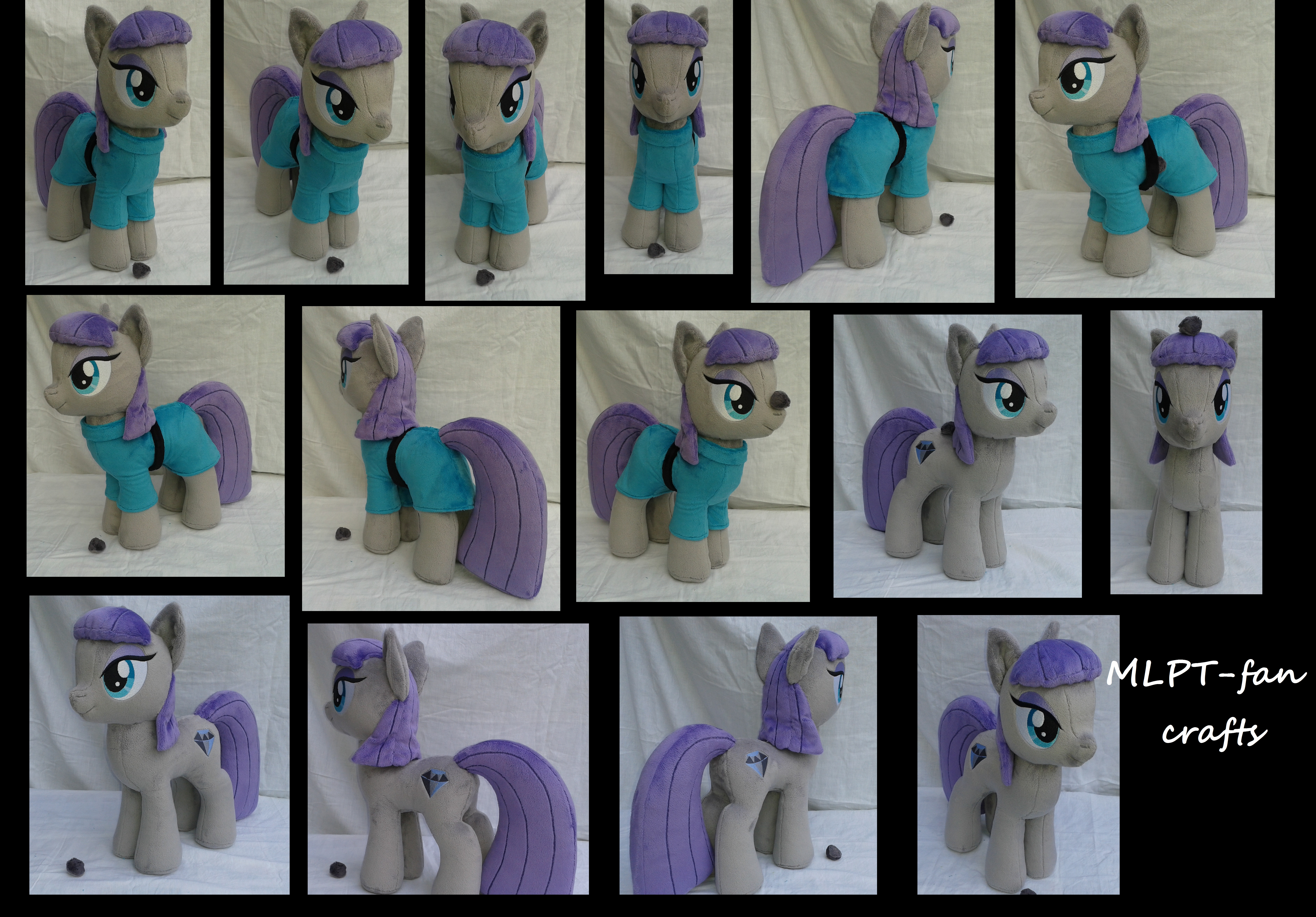 Maud Pie with pet Boulder! by MLPT-fan