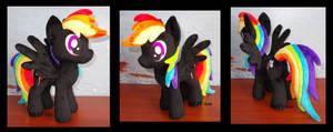 little black Rainbow Dash