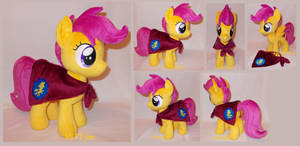 Scootaloo with CMC cape (commission)