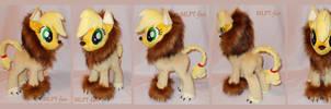 Applejack in lion costume (commission)