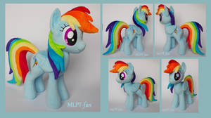 17 inches RAINBOW DASH (sold)