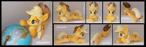 Lying down Applejack by calusariAC