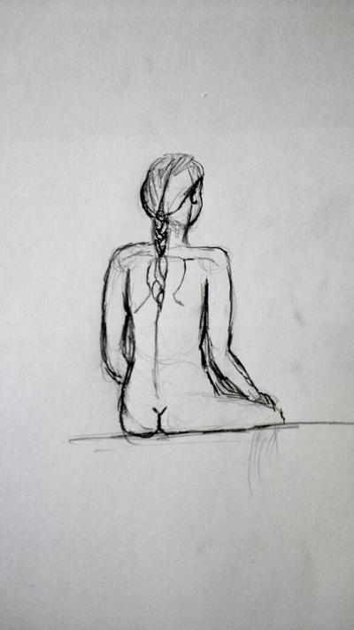 Girl Sitting by rioki1337
