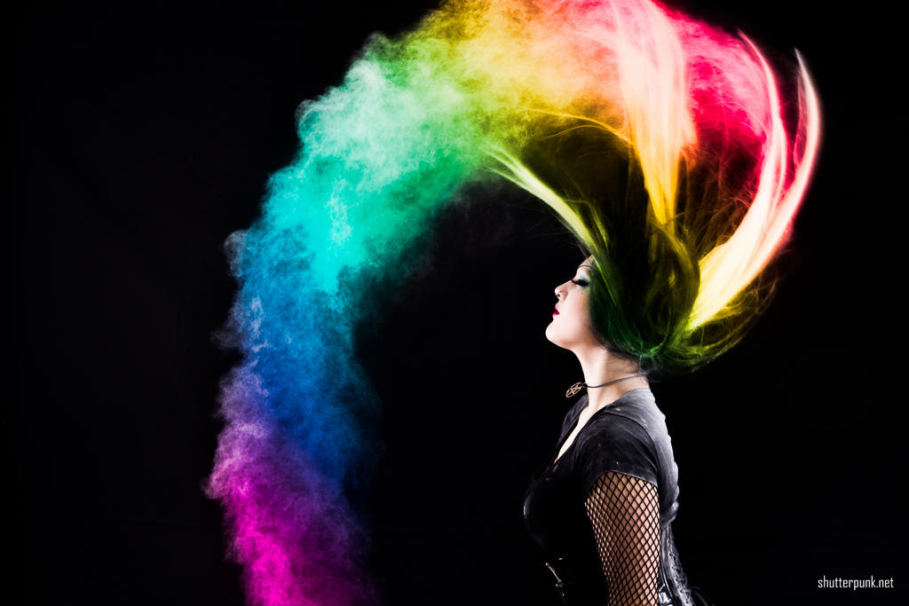 Rainbow Powder Portrait by Shutter-Punk