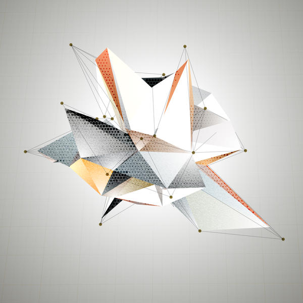 Origami Abstract 3D Triangles Vector Background By VolsKinvols