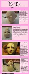 BJD Face-up Tutorial by pirakarapper