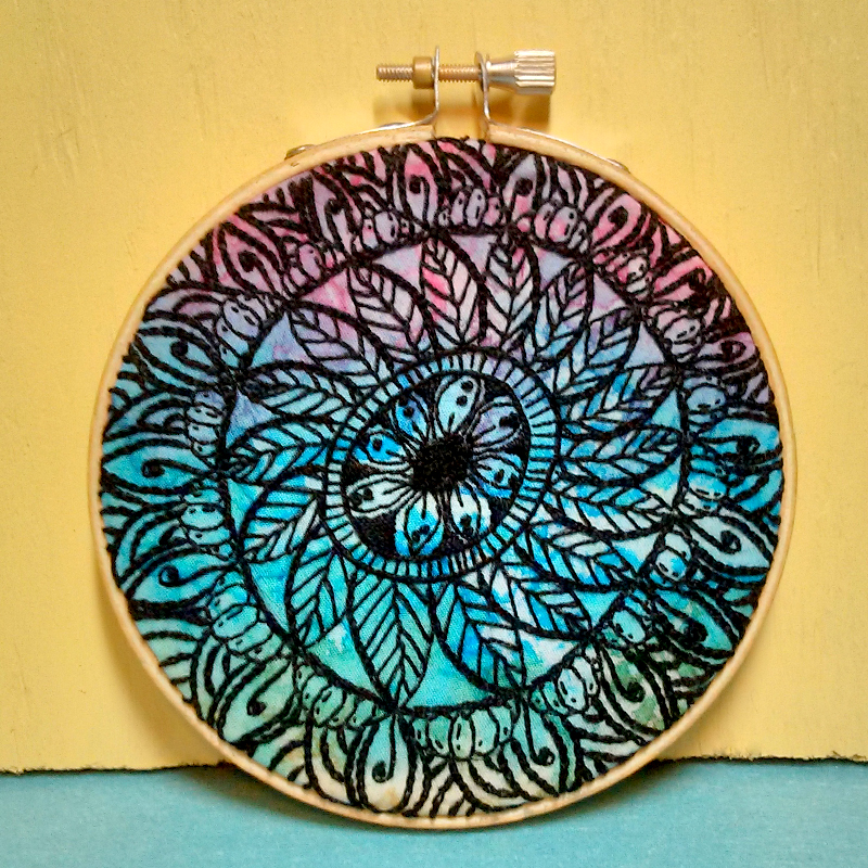 Embroidered Mandala by Craftypodes