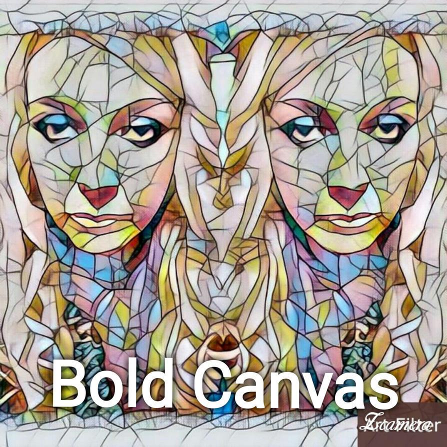 Bold Canvas Art  by Beanieartist