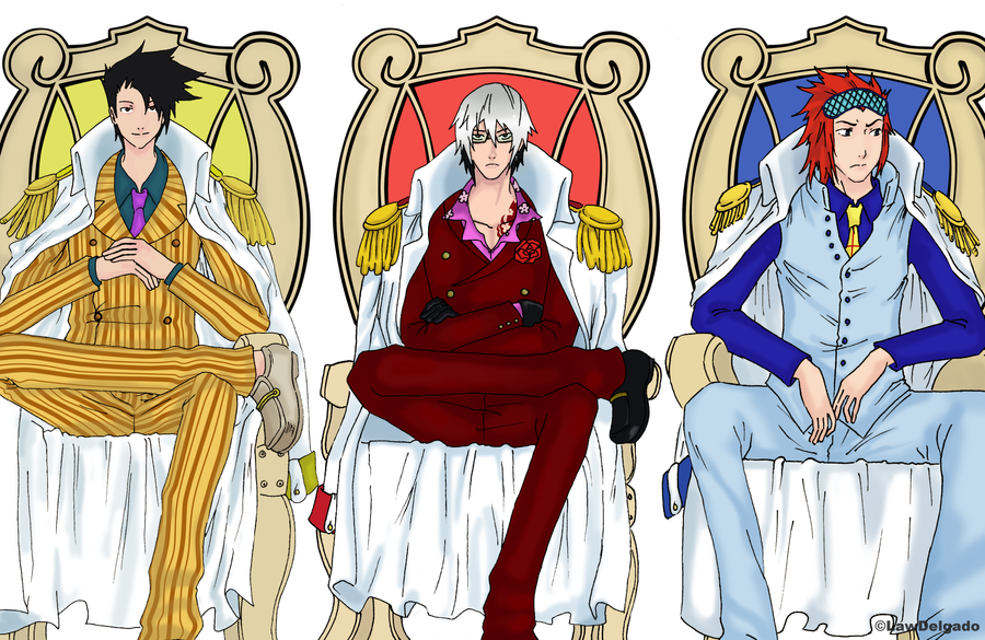Three Admirals by LawDelgado on DeviantArt