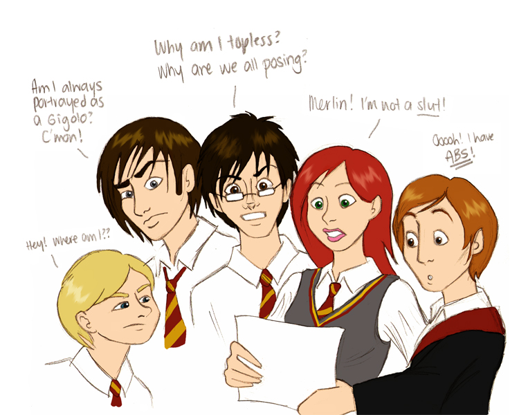 Marauders' response to fanart by quidwitch