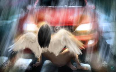 angel in headlights by swanblood