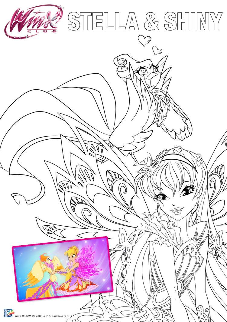 Stella y shiny para colorear original by bluum2477 on DeviantArt