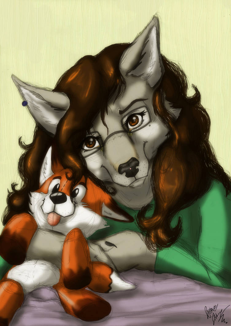 Frederika Woof and her little Foxy