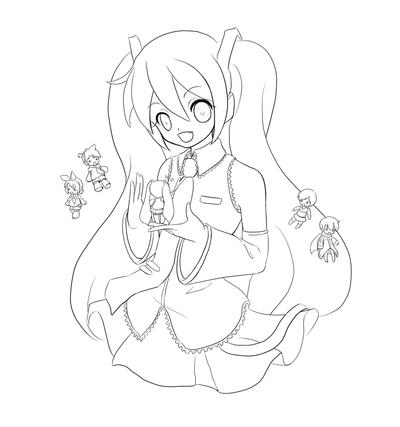 these images will help you understand the words hatsune miku chibi coloring pages in detail all images found in the global network and can be used only - Hatsune Miku Chibi Coloring Pages