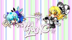 Happy 2010 - postcard by Ninamo-chan