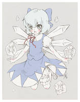 Cirno - sketch by Ninamo-chan