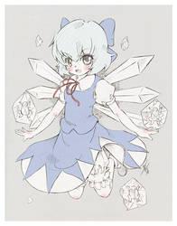 Cirno - sketch by Ninamo-chan