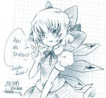 20,000 kiriban - quick sketch by Ninamo-chan