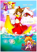 Neko Miko Reimu - fanart by Ninamo-chan