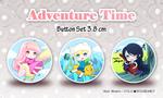 Adventure Time - button set by Ninamo-chan