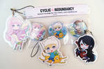 Adventure Time - buttons and straps by Ninamo-chan